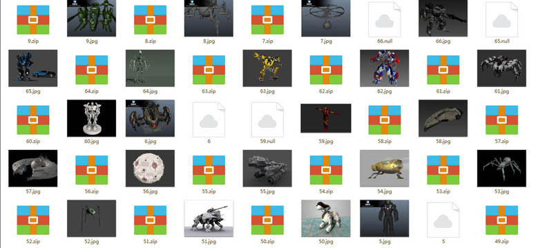 62个机械3D模型