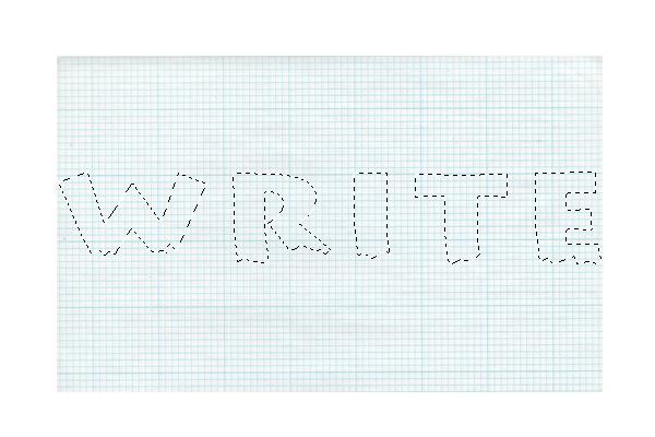 导入纸张素材,然后改变其大小为500*308px,选中我们的绿色文字,然后