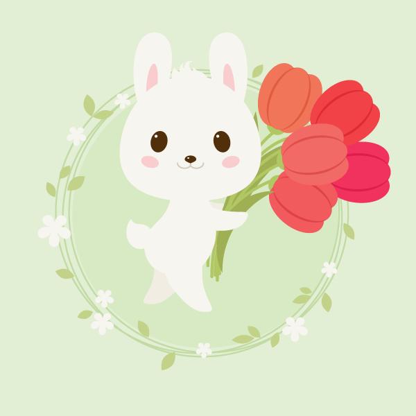 可爱动物萌图 头像 兔子