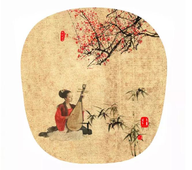 圆形,扁桃形,梨形扇面画框制作步骤