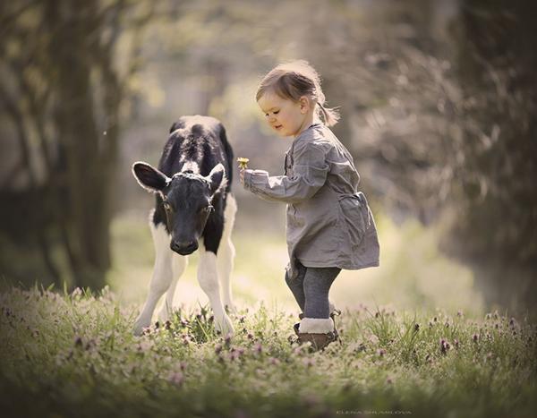 与动物的温暖瞬间 这才是儿童摄影的打开方式