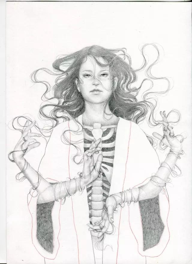 设计资讯 创意艺术 插画师analisa的铅笔画作品欣赏  摘要:英国插画师图片