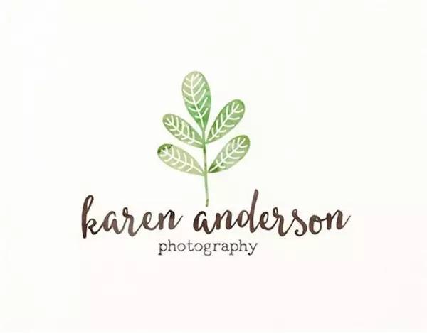40例植物元素的清新logo设计