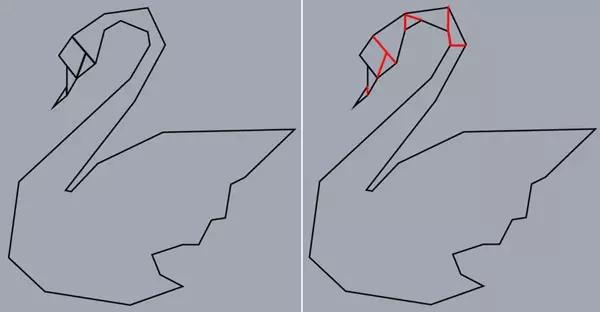 使用钢笔工具画连接那些角的线,给人以折叠的感觉(如下图).图片