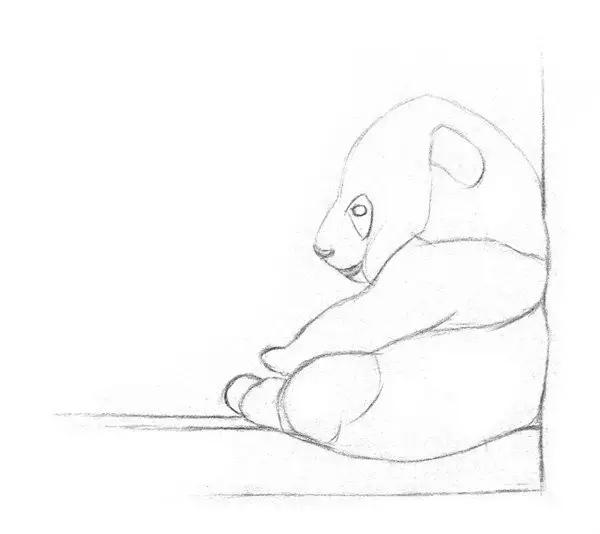 photoshop手绘一只熊猫宝宝