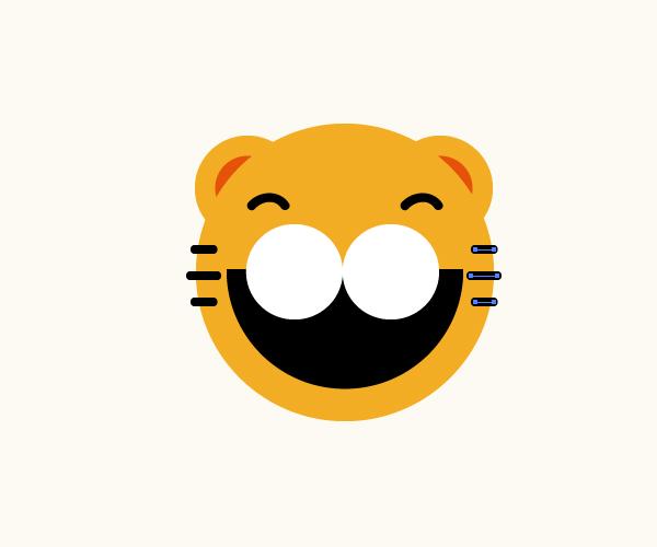 漂亮的小老虎    (1)使用直线段工具()画三条直线
