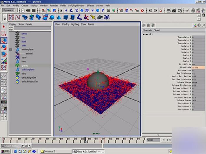 maya粒子特效教程:打造一个风沙特效场景