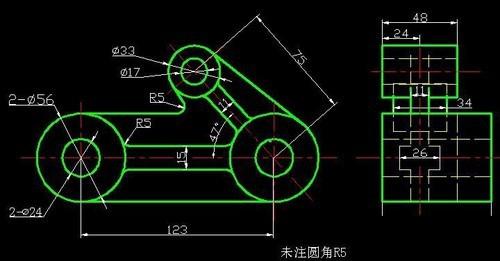 CAD根据二维十字三维图的坐标及思路cad方法图画的画法图片