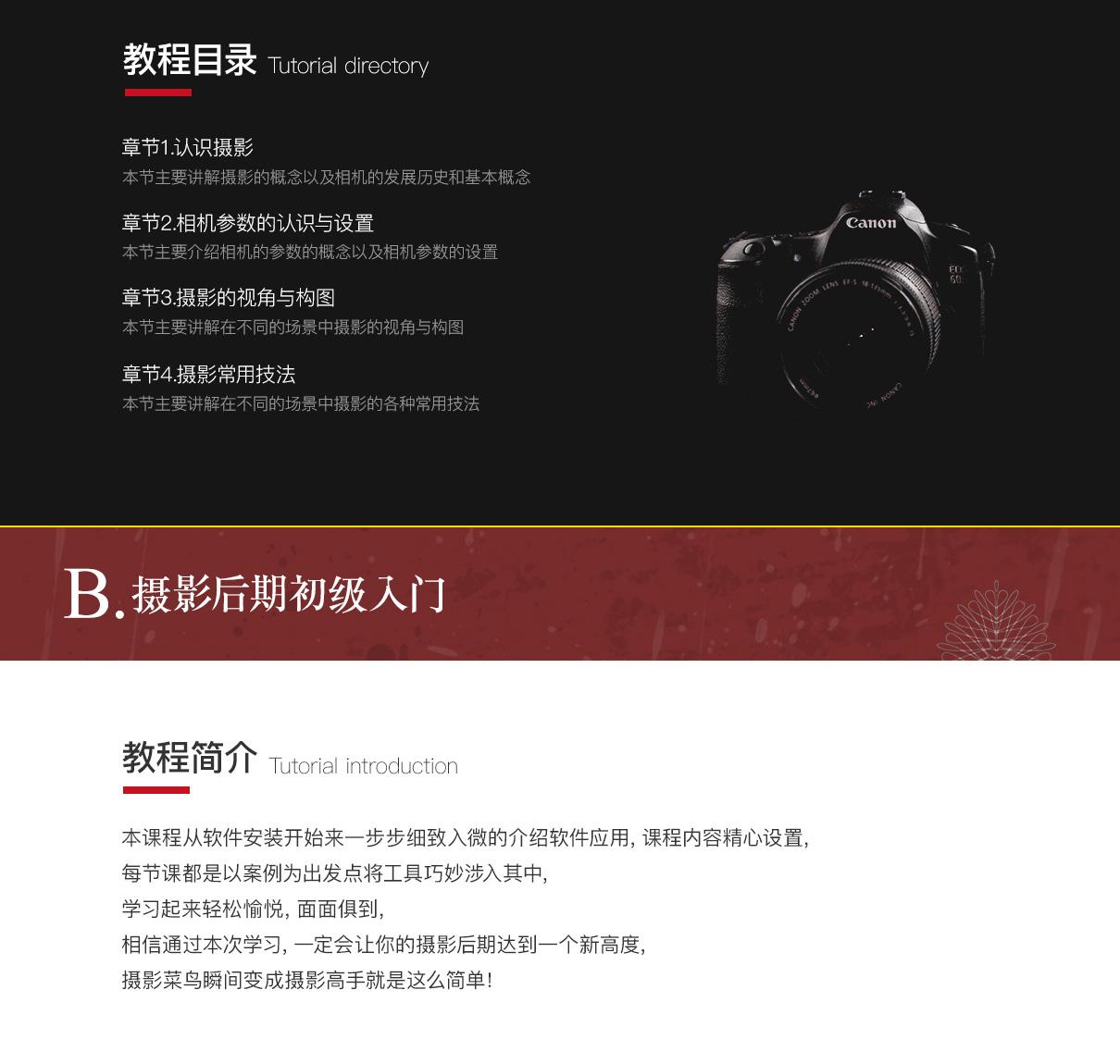 摄影初学者从入门到后期案例教程