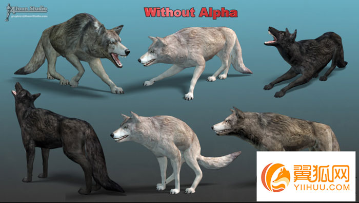 unity3d狼模型WOLF