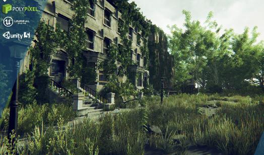 Post Apocalyptic World - Unity v1.1 - 末日之城场景资源