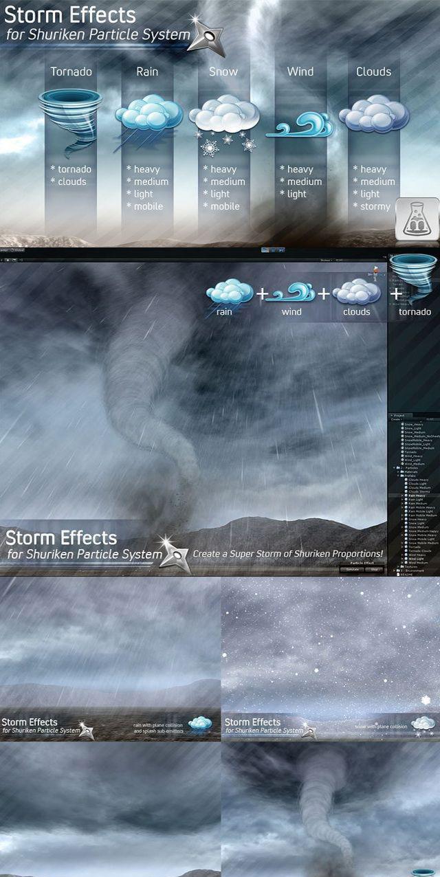 Storm Effects 1.0 unity3d风暴特效粒子插件