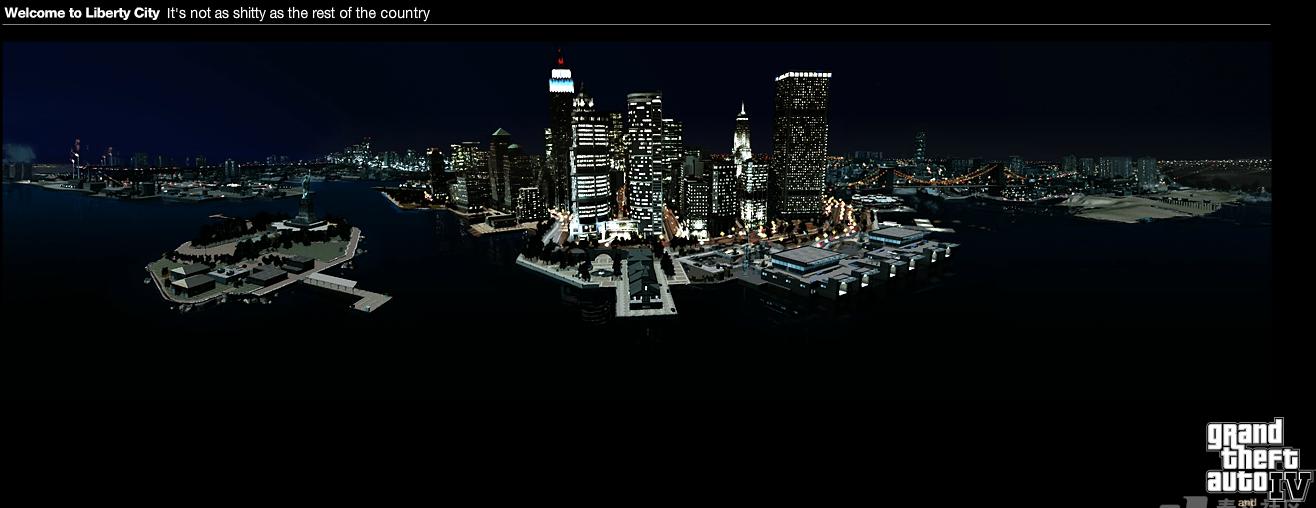 unity3d 城市模型场景 GTA 4 - Liberty City