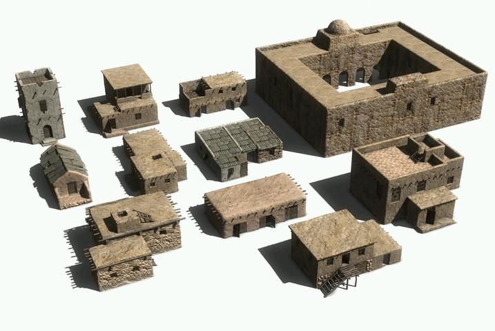 Unity3d模型  中东环境环境模型包下载