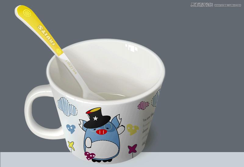 photoshop鼠绘:绘制可爱的卡通杯子