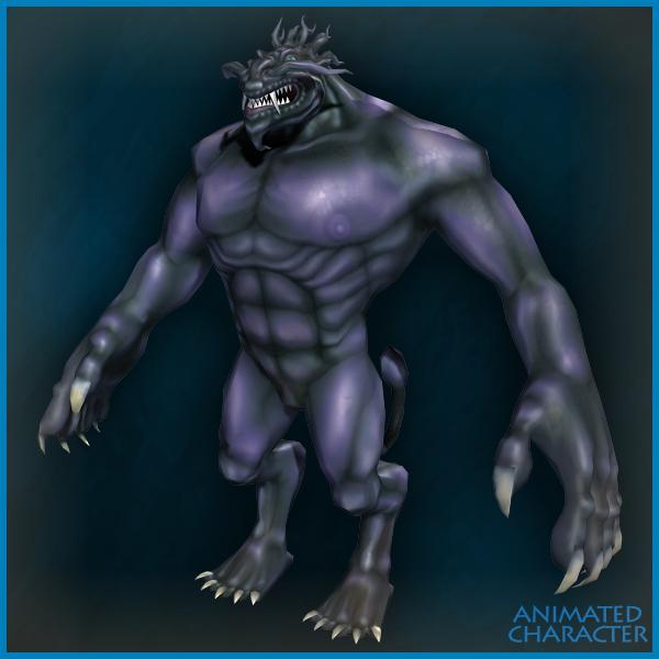 unity3d狮头怪物Lionhead monster