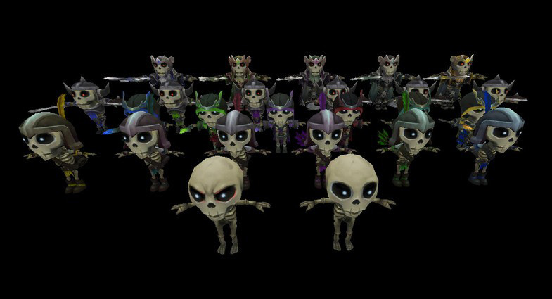 unity3d 骷髅法师Skeleton Mage带动画