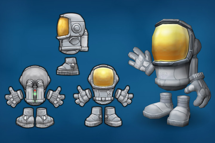 Smoo Astronaut 卡通航天员 带动作