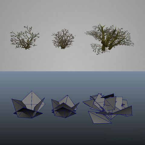 枯树模型包Low Poly Dead Tree Pack