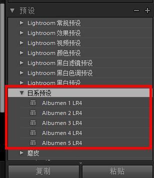 lightroom预设导入安装方法