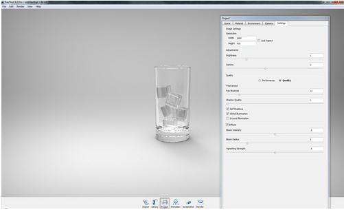 keyshot渲染教程:keyshot教你如何简单的渲染冰与水