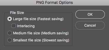 用于将图像存储为 PNG 的新选项