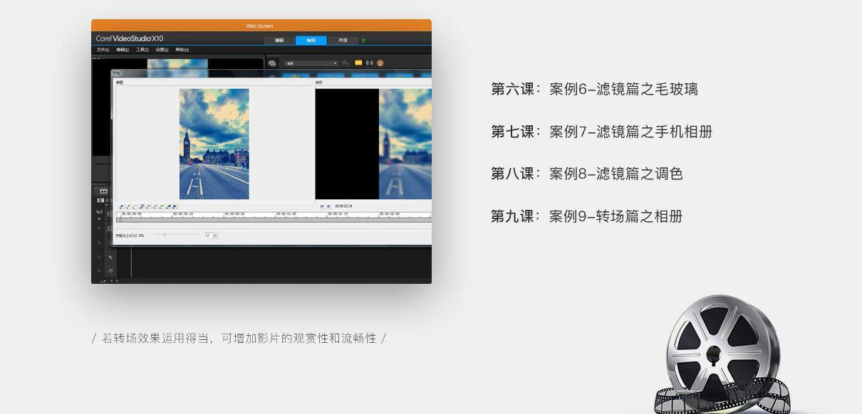 会声会影X9X10案例实战视频教程