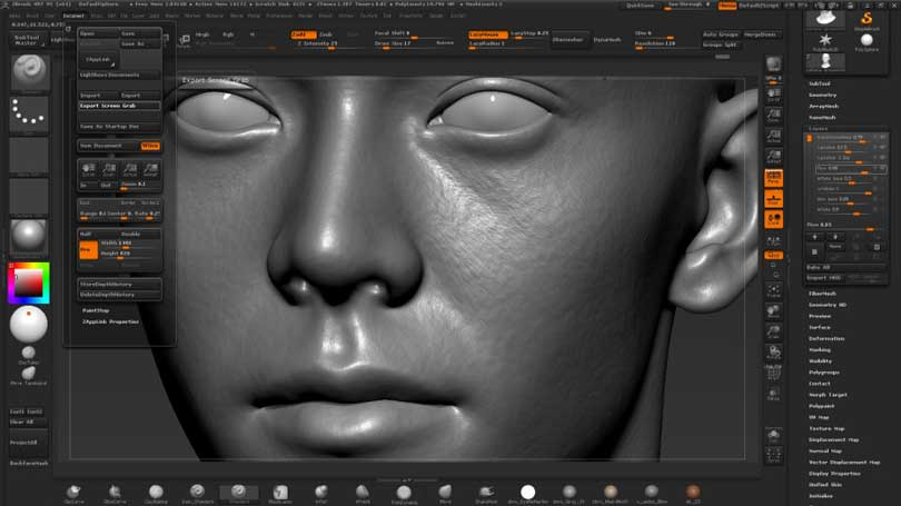 Zbrush头部细节雕刻教程