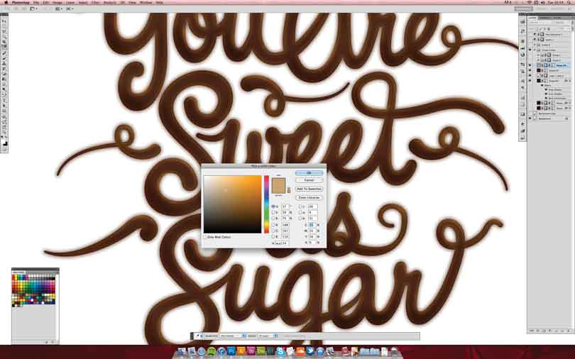 Illustrator巧克力字体制作教程