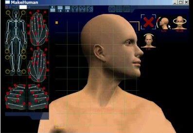 MakeHuman是一个开源的3D人物角色建模软件