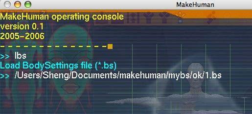 MakeHuman 可以将人偶汇出成为 .OBJ 的格式