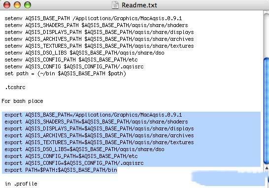 有提到针对不同的 shell 指令环境的命令