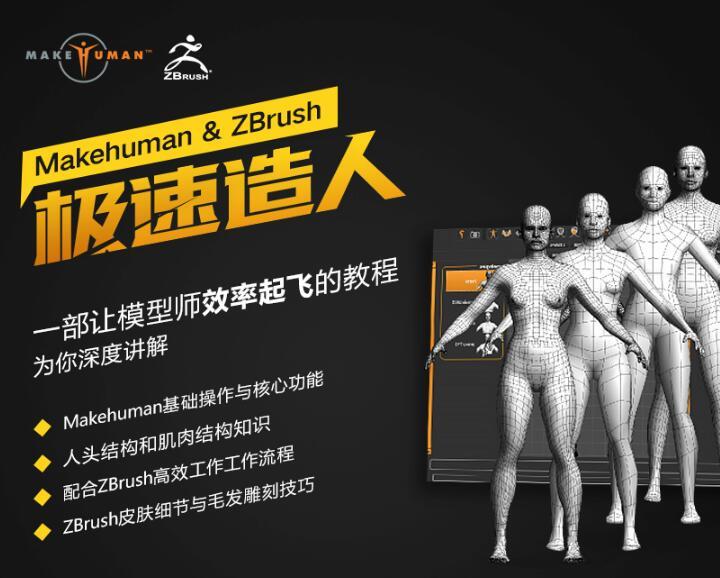使用Zbrush和MakeHuman制作高精度写实人头模型的方法和流程