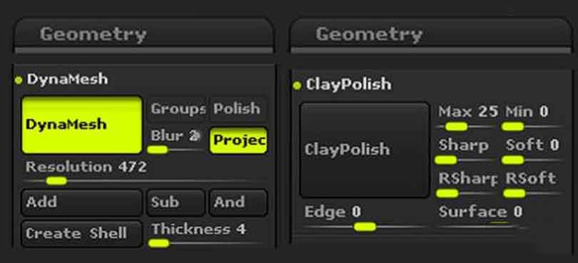 ZBrush制作硬表面基本设置