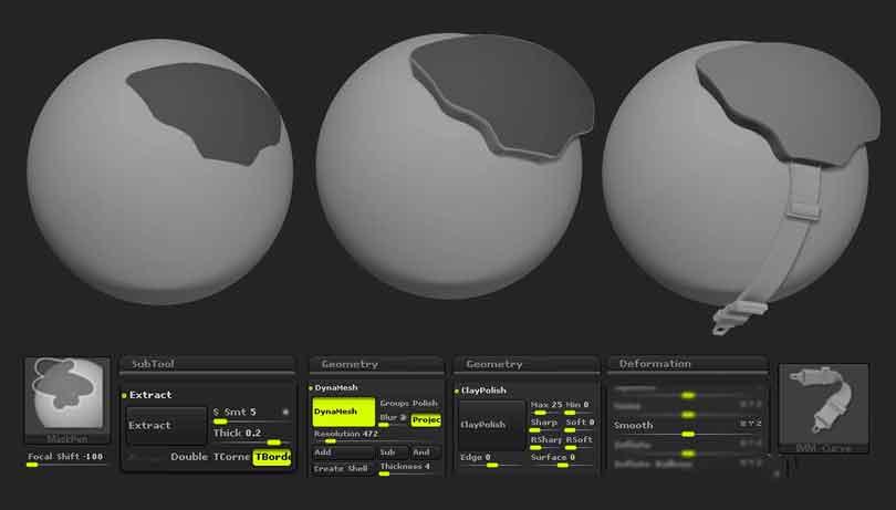 ZBrush制作硬表面雕刻工作的细节