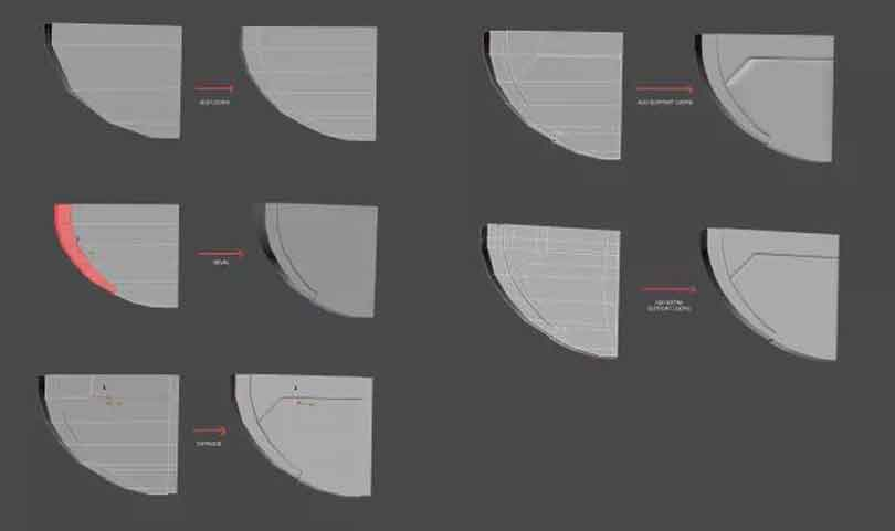3dsmax硬表面建模之模拟底部机翼及打孔