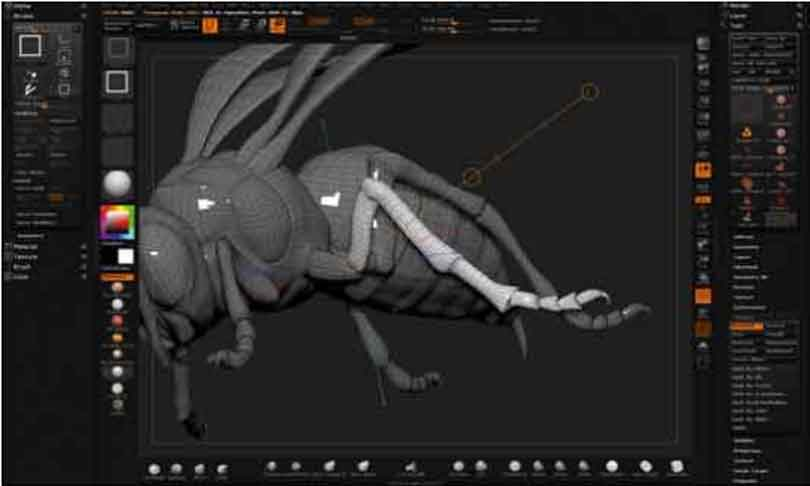 zbrush硬表面雕刻技术技巧之使用Transpose摆姿势