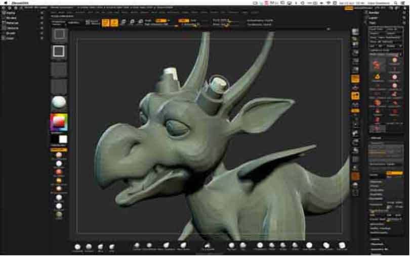 zbrush硬表面雕刻技术技巧之插入网格