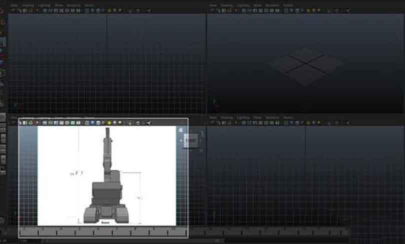 Maya硬表面建模之将工程车辆图像放在视图上