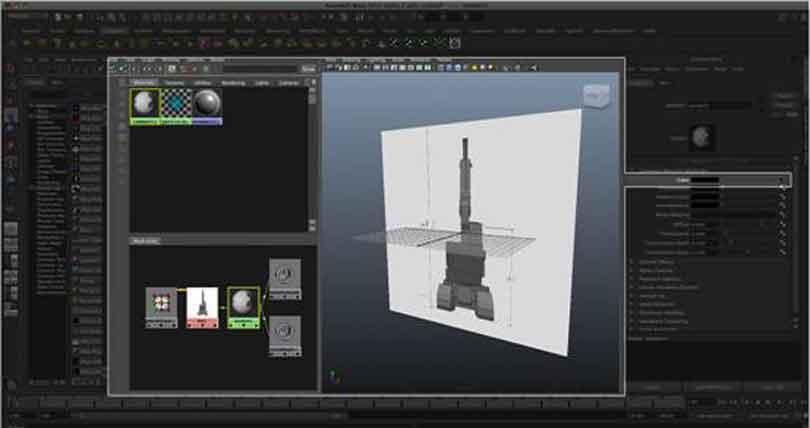 Maya工程车辆硬表面建模之修改图像位置