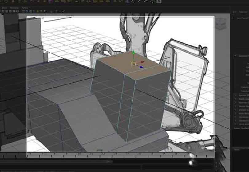 Maya工程车辆硬表面建模之使用拉伸工具