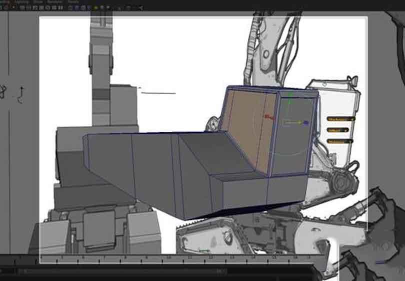 Maya工程车辆硬表面建模之调整位置以匹配图像参考