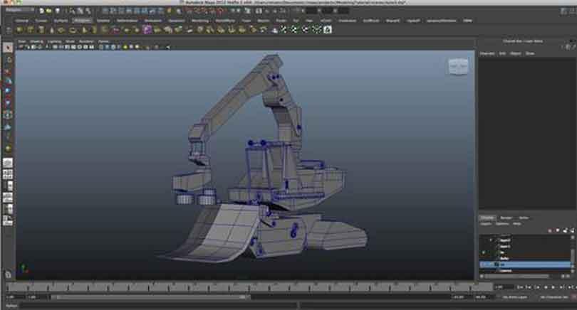 Maya工程车辆硬表面建模作品