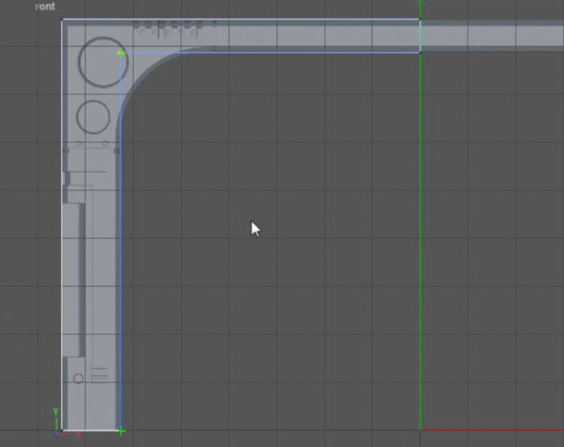 Cinema 4D硬表面建模之照科幻门形状画个线