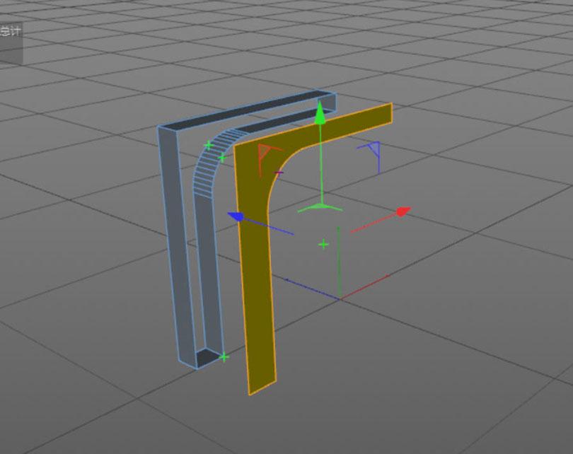 Cinema 4D硬表面建模案例之科幻门优化