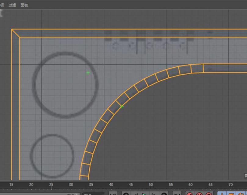 Cinema 4D硬表面建模案例之给科幻门添加个倒角