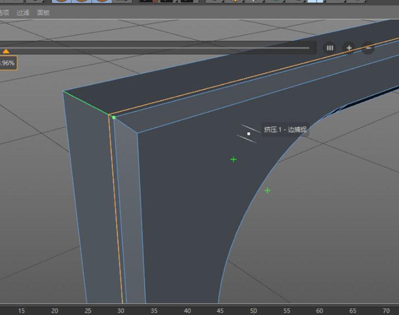 Cinema 4D硬表面建模案例之科幻门循环切刀来个锁边