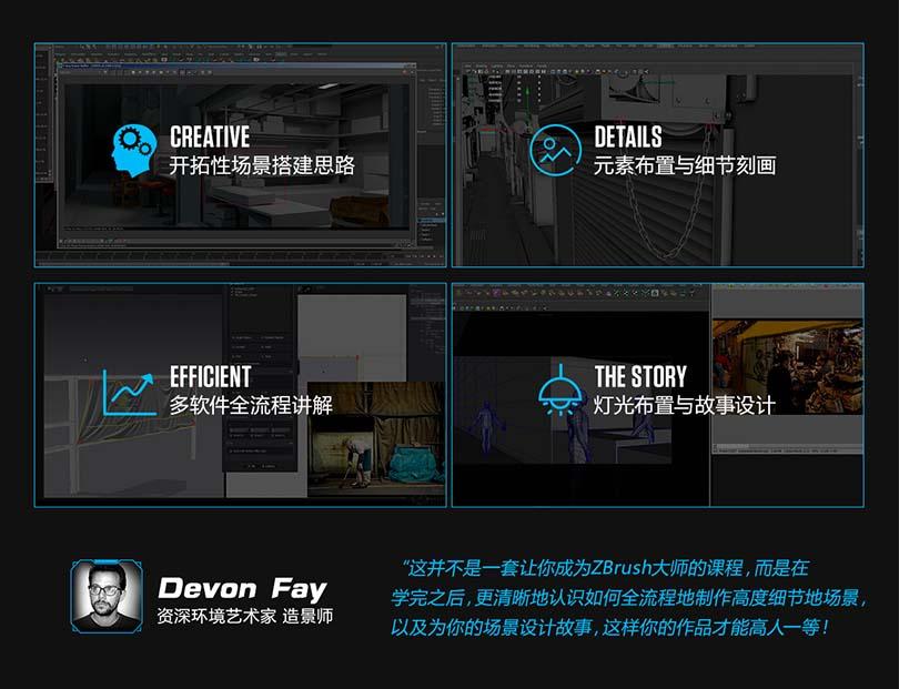 《科幻街道》CG写实场景创建全流程教程介绍