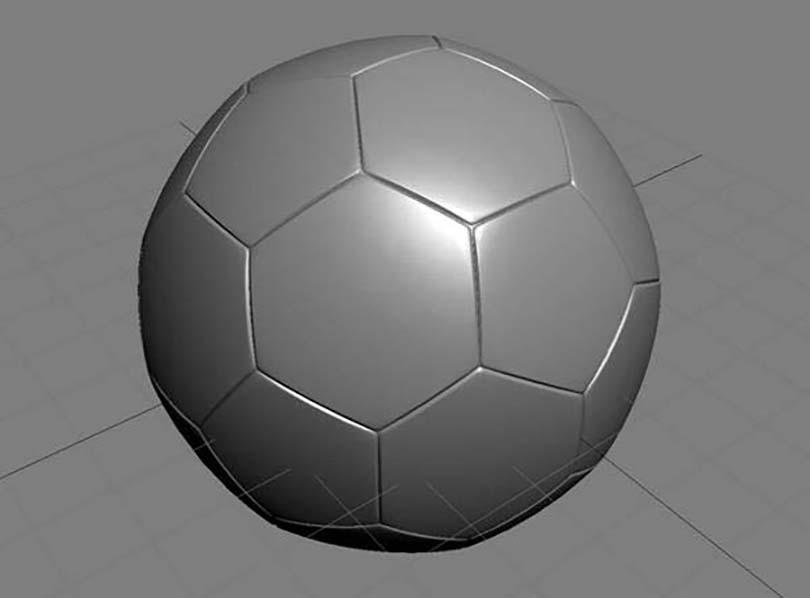 3DsMAX足球贴图具体的制作步骤之使用脚本创建一个足球
