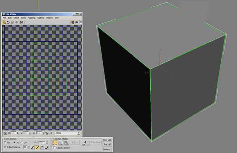 3DsMAX足球贴图具体的制作步骤之展开这个Box的UVmap并描绘